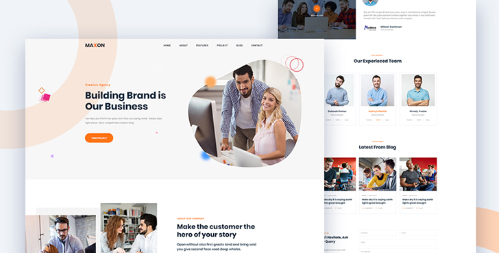 Maxon - Agency template