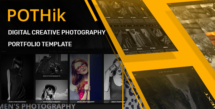 Pothik - Digital Creative Photography Portfolio Website Template