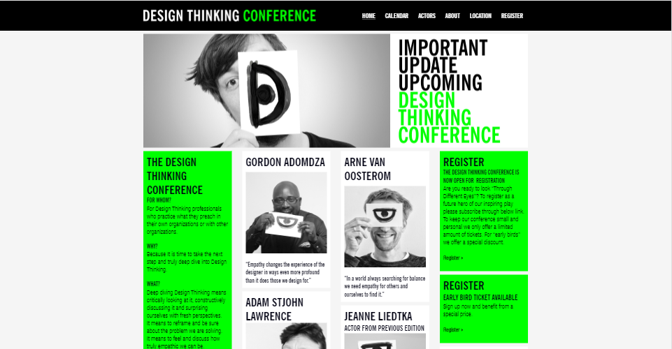 Design Thinking Conference