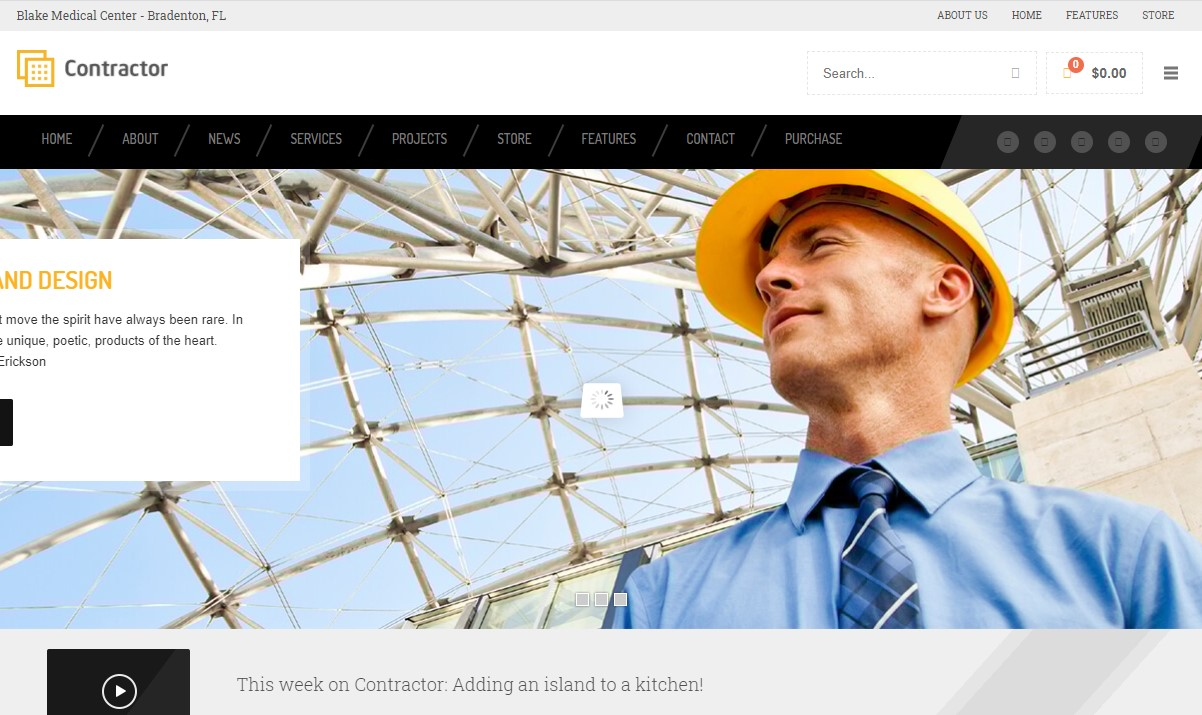 Contractor- Construction, Building HTML Template