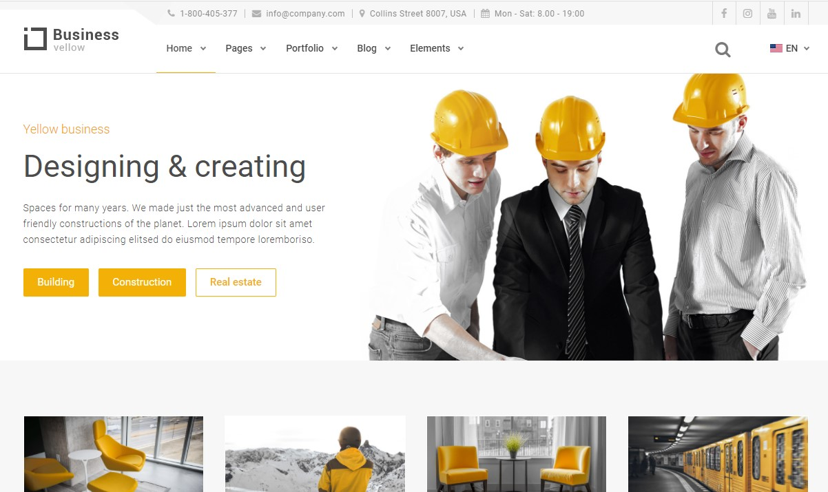 Yellow Business- Construction Template