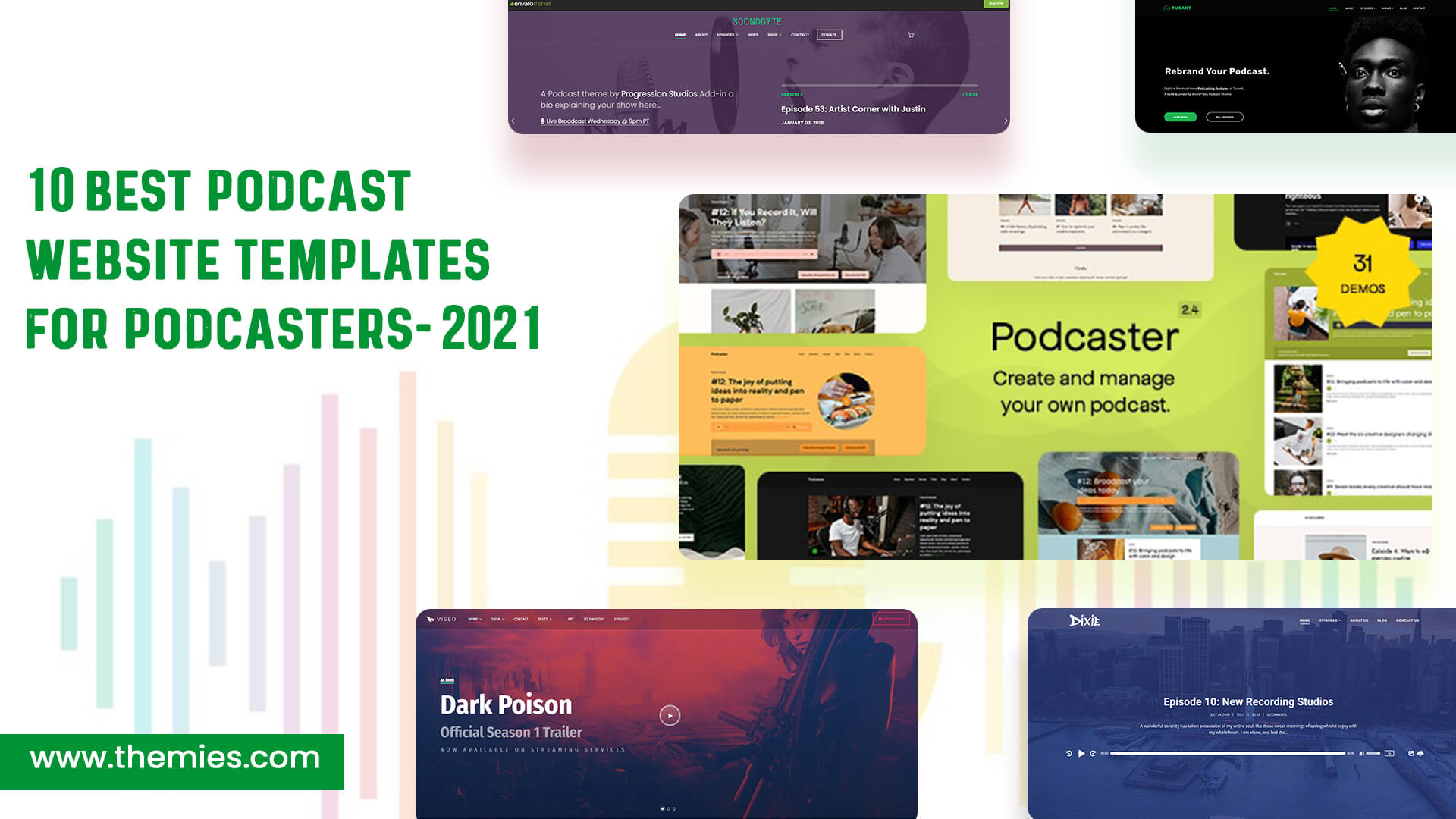 10 Best Podcast Website Templates for Podcasters [2021] - Themeies