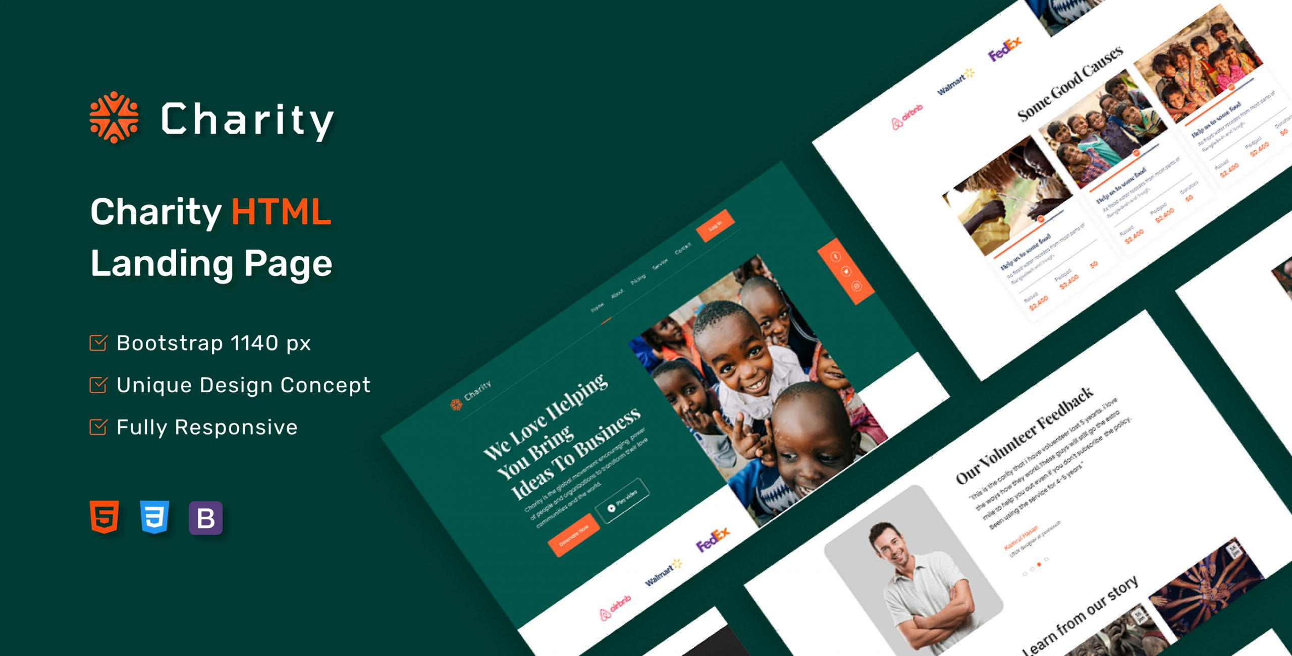 Charity - Donation Landing Page HTML5 Template